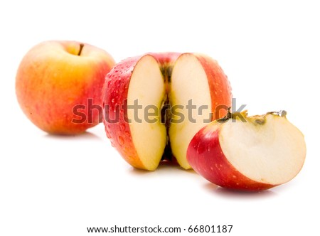 apples on a white background - stock photo