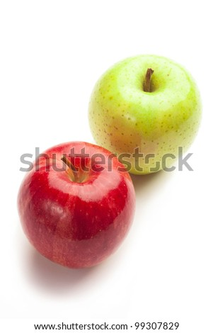 apples on on a white background