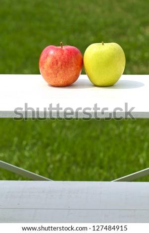 Apples, pairs, - stock photo