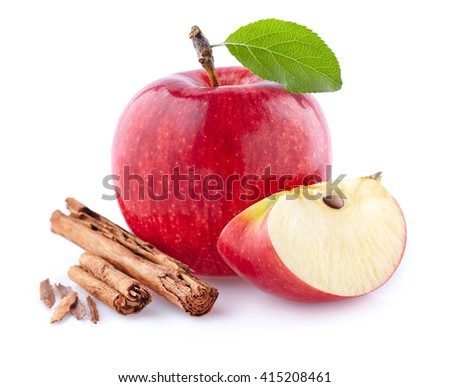Apples with cinnamon - stock photo