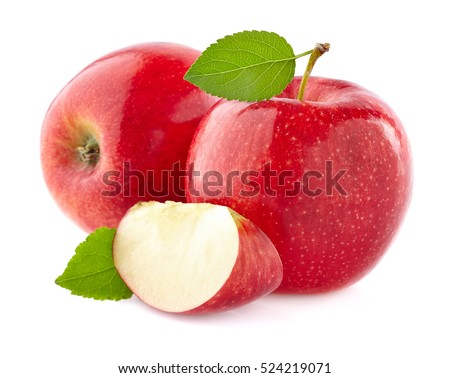 Apples with leaves