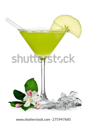 Appletini cocktail - stock photo