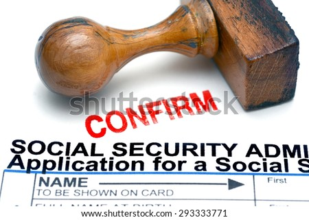 Application for social security - stock photo