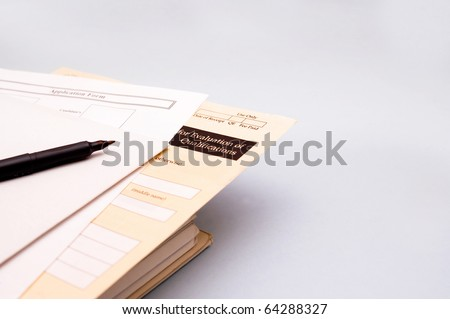 Application form for business day - stock photo
