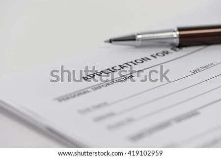 Application form to applying for a job - stock photo