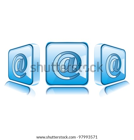 Application icons for Smart Phone isolated on white background. E-mail