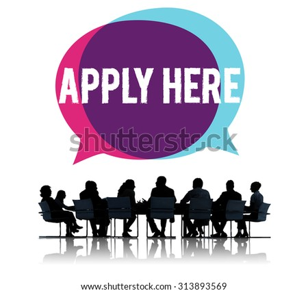 Apply Here Opportunity Hire Employment Concept - stock photo