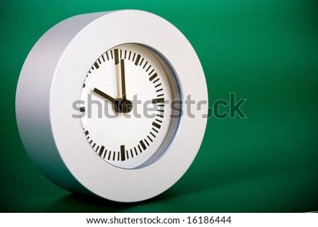 Appointment and time concept on green background