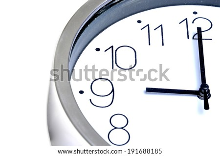 Appointment time was nine o'clock in the morning to do things. - stock photo