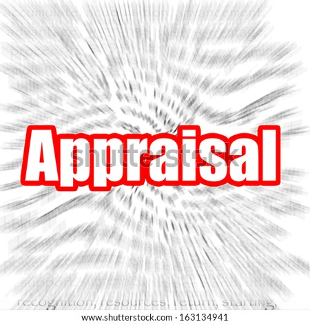 Appraisal - stock photo