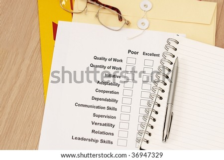Appraisal Survey concept - stock photo