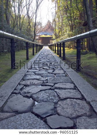 Approach road to the temple, Koto-in a sub-temple of Daitoku-ji - Kyoto, Japan