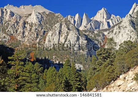 Approaching Mount Whitney, Sierra Nevada Mountains, California - stock photo