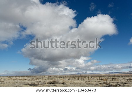 Approaching storm clouds over Nevada desert