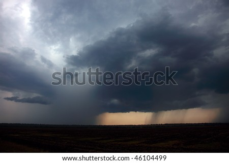 Approaching thunder-storm - stock photo