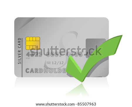 approve Credit Card illustration design