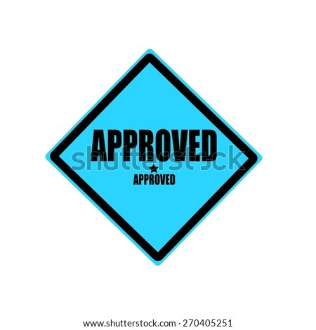 approved  black stamp text on blue background - stock photo