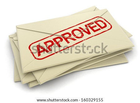 Approved letters  (clipping path included)
