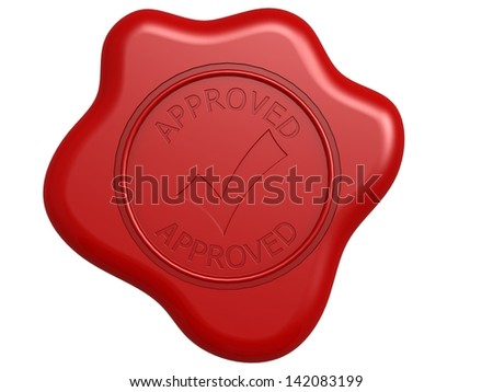 Approved seal - stock photo