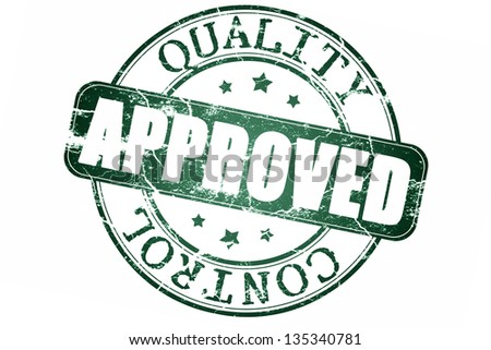 Approved stamp -Clipping path included - stock photo