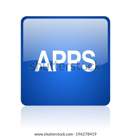 apps blue computer icon on white background