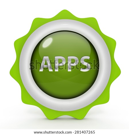 Apps circular icon on white background