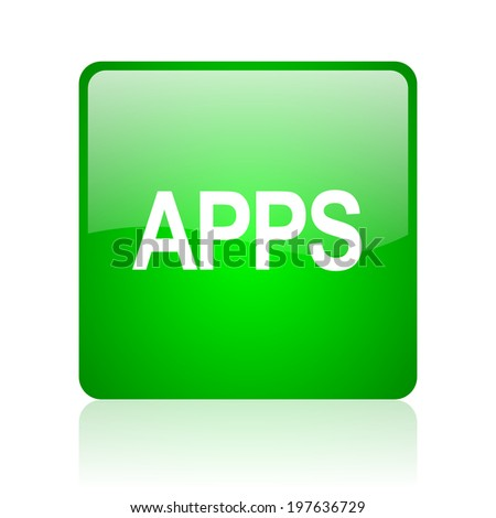 apps computer icon on white background