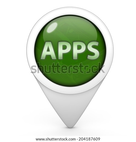 Apps pointer icon on white background
