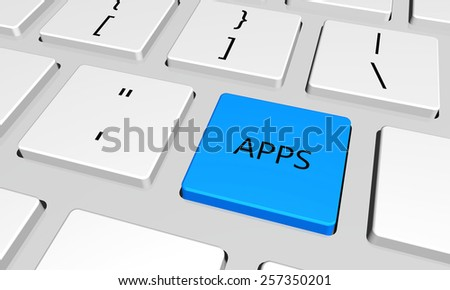 apps  with word key or keyboard - stock photo