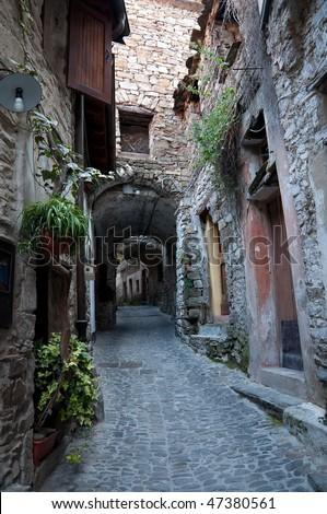 Apricale, a wonderful medieval village at the top of a mountain in Liguria, Italy, Europe
