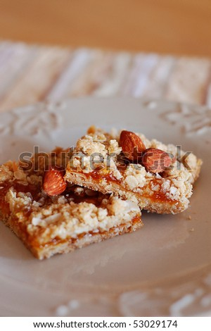 Apricot Almond Granola Bars - stock photo