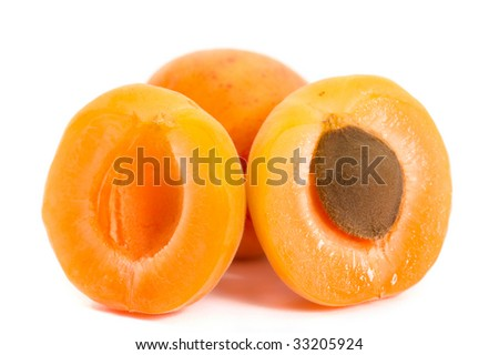 apricot isolated on the white background