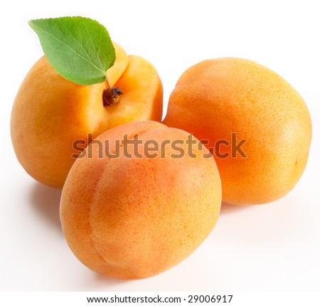 Apricots on white - stock photo
