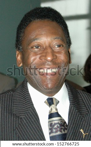 APRIL 13, 2005 - BERLIN: Brazilian soccer legend Pele, born 1940 as Edson Arantes do Nascimento after a meeting with the German Chancellor in the German Chanclery, Berlin.