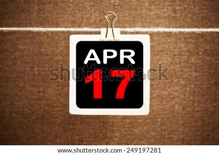 April 17 Calendar. Part of a set - stock photo
