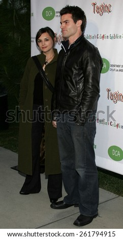 "April 22, 2006. Daniel Gillies and wife Rachael Leigh Cook attend the opening of ""The Children's Collection"" held at the Junior Arts Center Gallery at Barnsdall Park in Hollywood, United States."