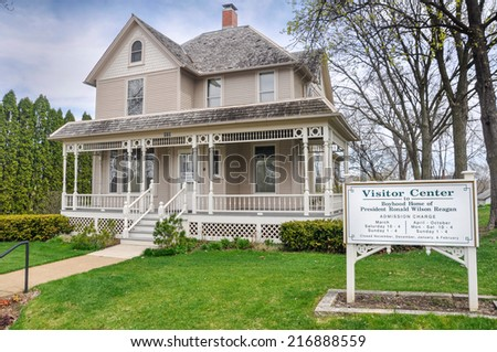 APRIL 23, 2009 - DIXON, IL: Boyhood home of President Ronald Wilson Reagan in Dixon, Illinois.