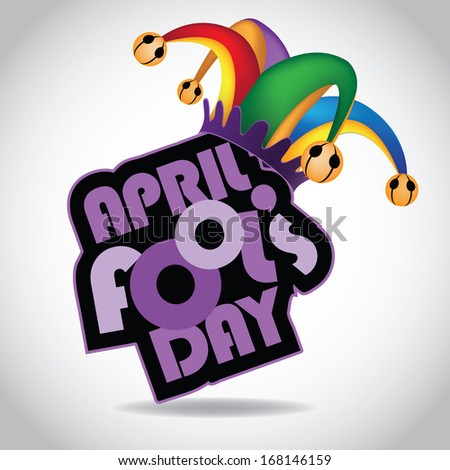 April Fool�s Day design element. Jpg. - stock photo