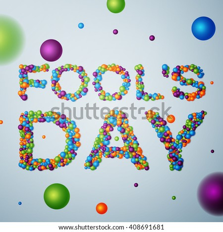April Fools Day background, calendar date April 1. - stock photo