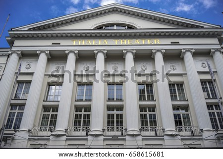 APRIL 2015,HAMBURG GERMANY: Tall Town Hall, Parliament Government building in Hamburg, Germany