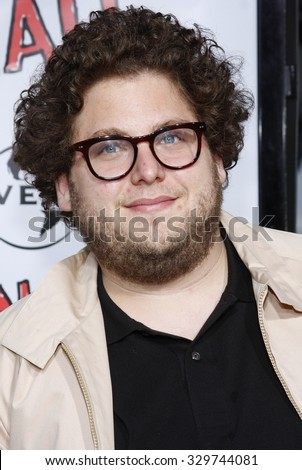 """April 10, 2008. Jonah Hill at the World Premiere of """"Forgetting Sarah Marshall"""" held at the Grauman's Chinese Theater in Hollywood, California United States. - stock photo"""