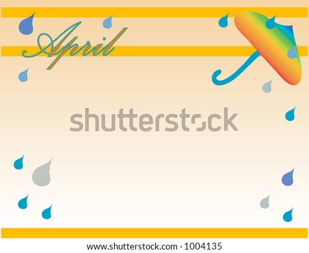 April shower theme background. - stock photo