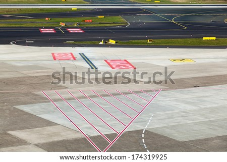 apron of an airport
