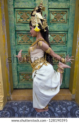 Apsara Dancer beautiful supernatural female in asian mythology - stock photo