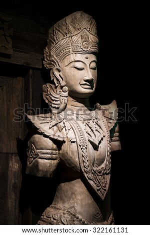 Apsara wood carving