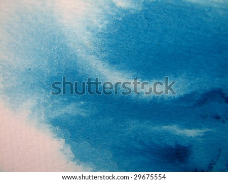 Aqua Watercolor Wash - stock photo