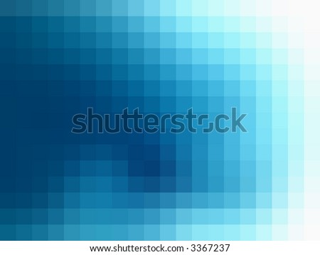 Aquamarine mosaic on a abstract background - stock photo