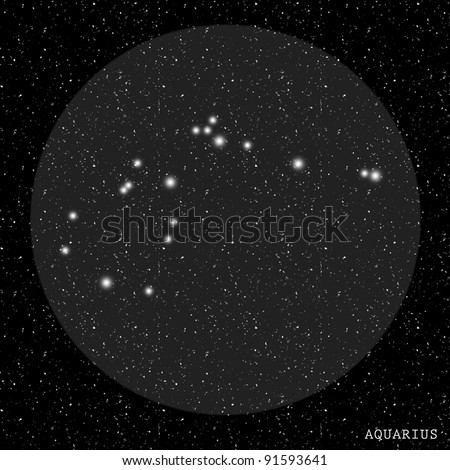 Aquarius Zodiac Constellation - stock photo