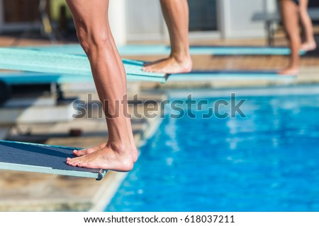 Backflip stock images royalty free images vectors shutterstock for Swimming pool diving board tricks