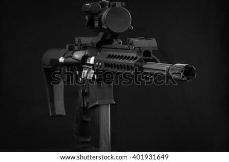 AR-15 M4 Rifle 300 Blackout - stock photo